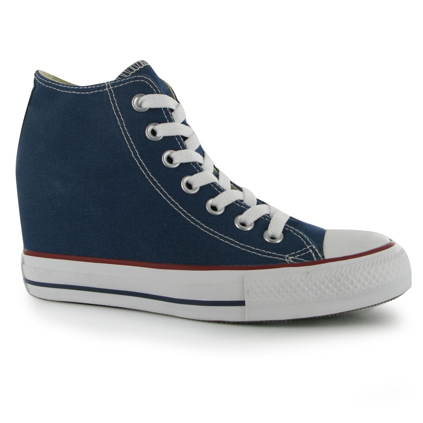 converse womens mid platform trainers lace up casual sport