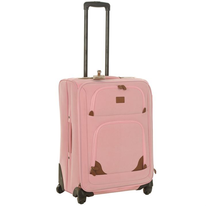 Kangol Unisex Soft Pink 4 Wheel Suitcase Trolley Case Bag Luggage