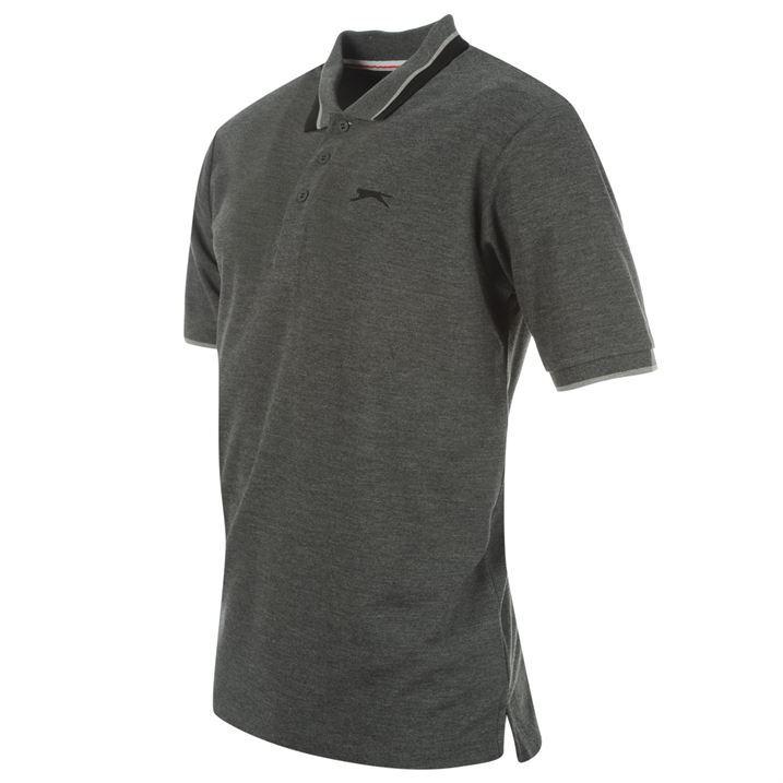 Slazenger Mens Clothing Short Sleeve Tipped Polo Shirt Fashion Top