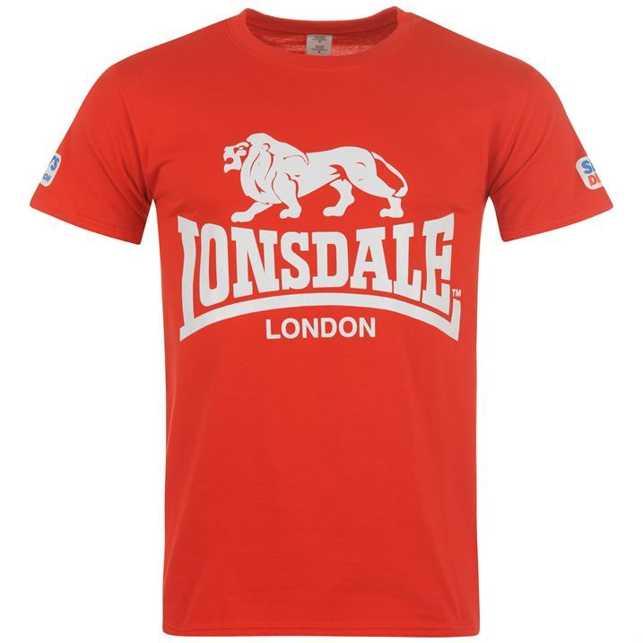 lonsdale walk in t shirt tee top mens. Black Bedroom Furniture Sets. Home Design Ideas