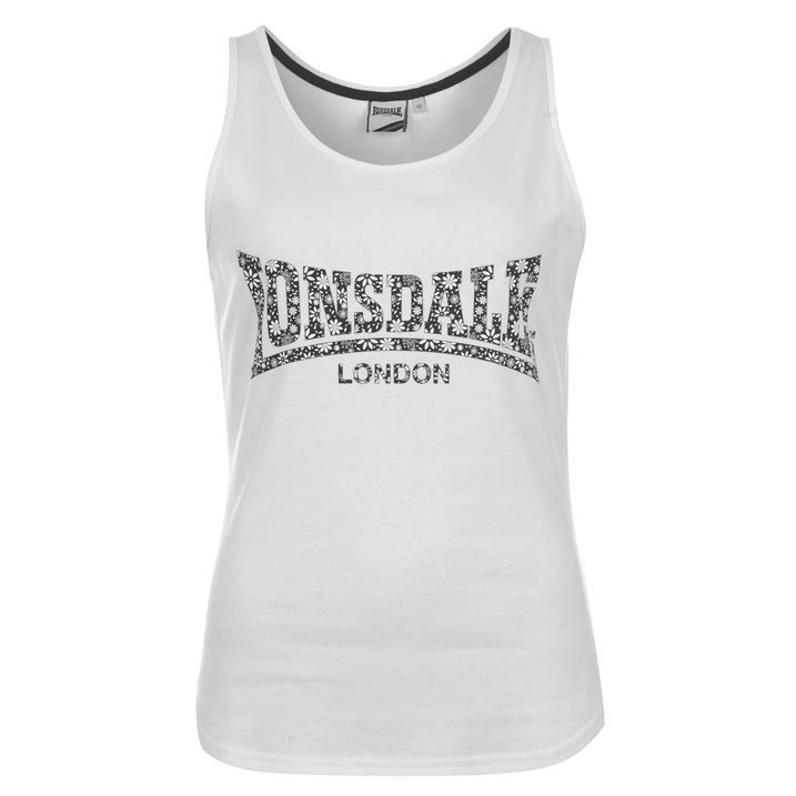 lonsdale womens clothing large logo vest top