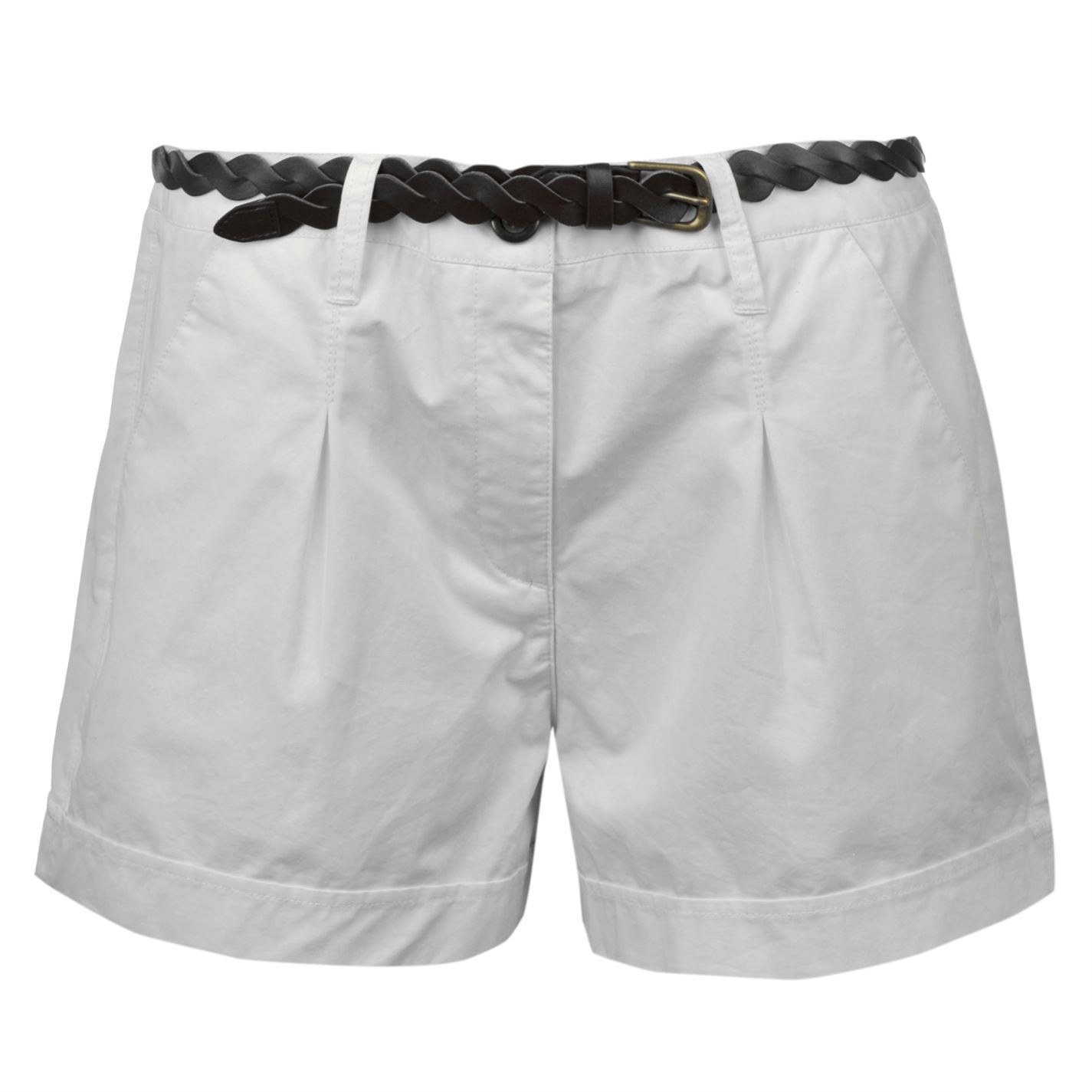 Ladies White Chino Shorts