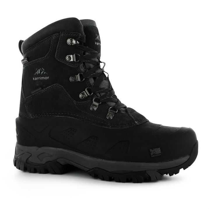 karrimor mens fur snow boots lace up waterproof leather