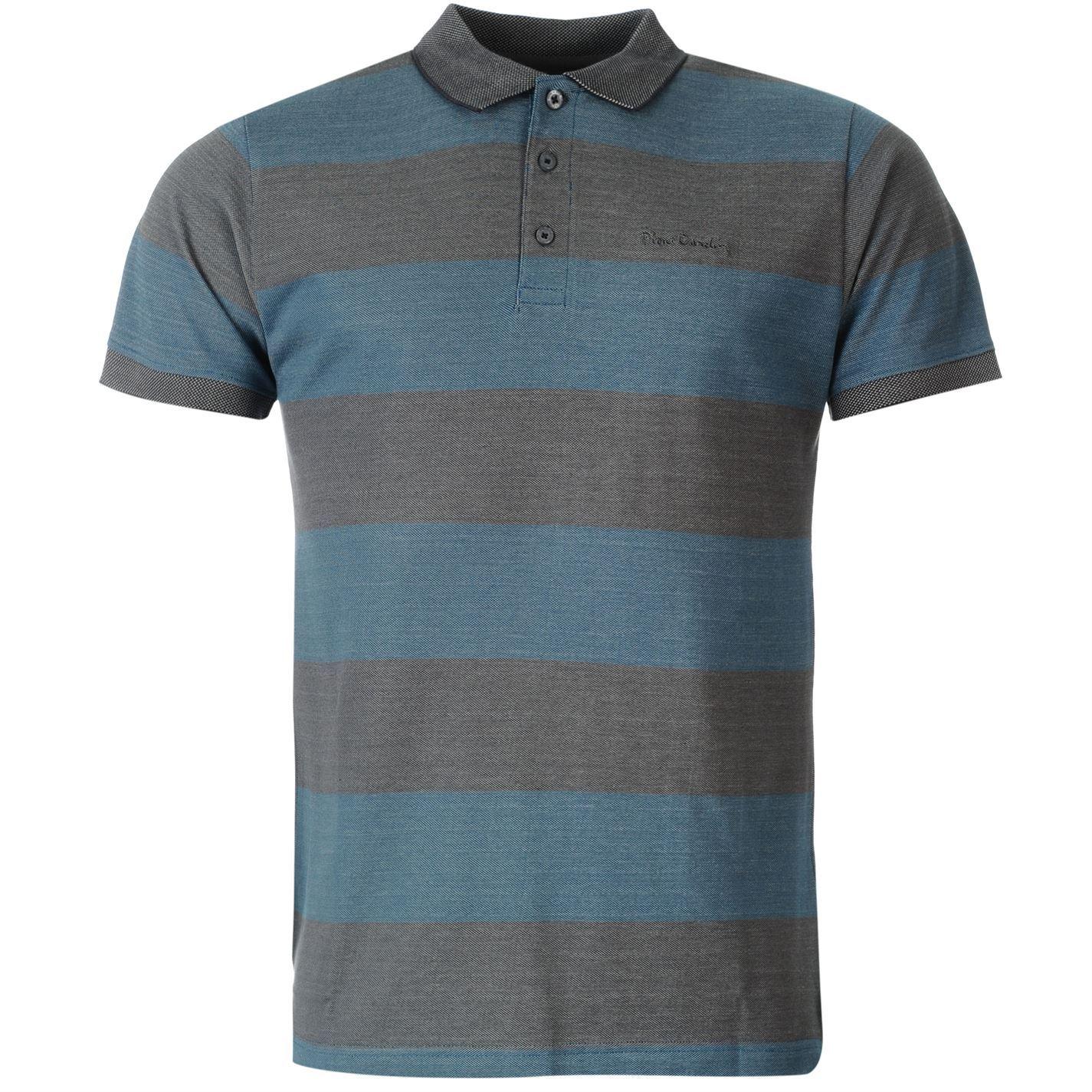 pierre cardin mens stripe polo shirt t shirt tee top. Black Bedroom Furniture Sets. Home Design Ideas