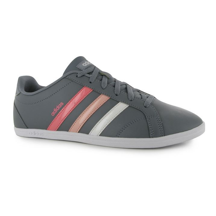 adidas Ladies Womens Coneo QT Leather Sneakers Shoes