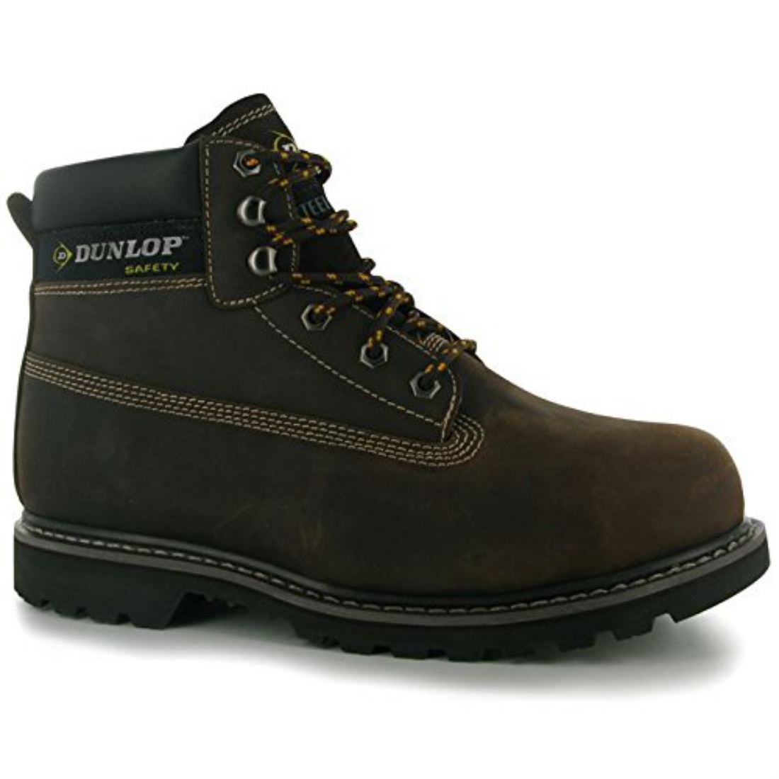 dunlop mens nevada steel toe cap lace up work safety shoes
