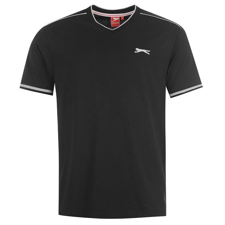 Slazenger Mens V Neck T Shirt Short Sleeved Top Tee Casual Printed