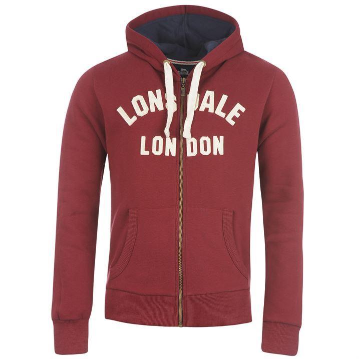 Lonsdale Mens Sweater Sweatshirt Sweat Hoodie Hooded Top Zip Through Boxing Gym