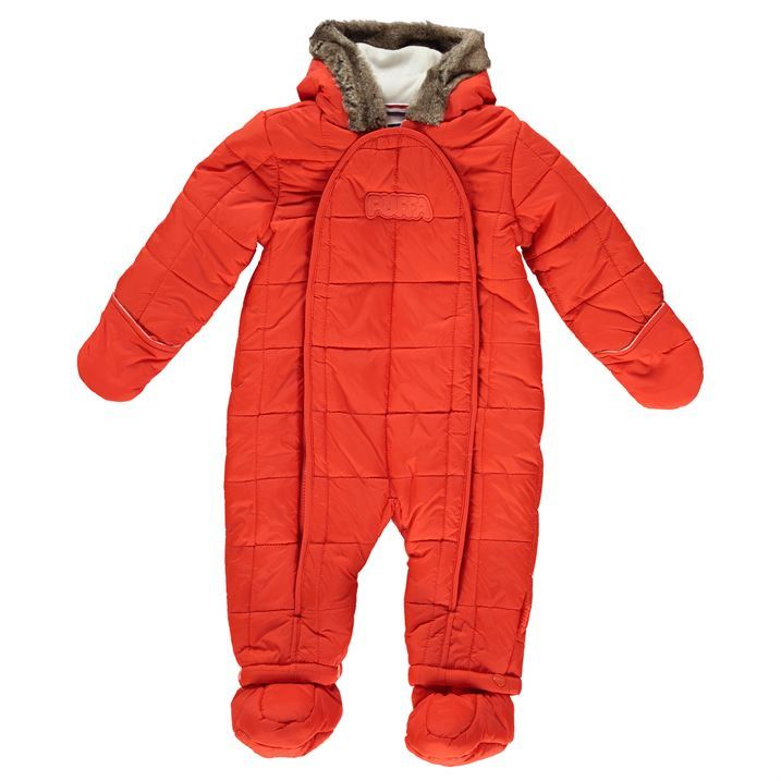 Kids' snowsuits are perfect when the thermometer drops and conditions outside are freezing. Their fabrics are designed to keep the snow out and warmth in while the one-piece cut makes dressing easy. Their fabrics are designed to keep the snow out and warmth in while the one-piece cut makes dressing easy.
