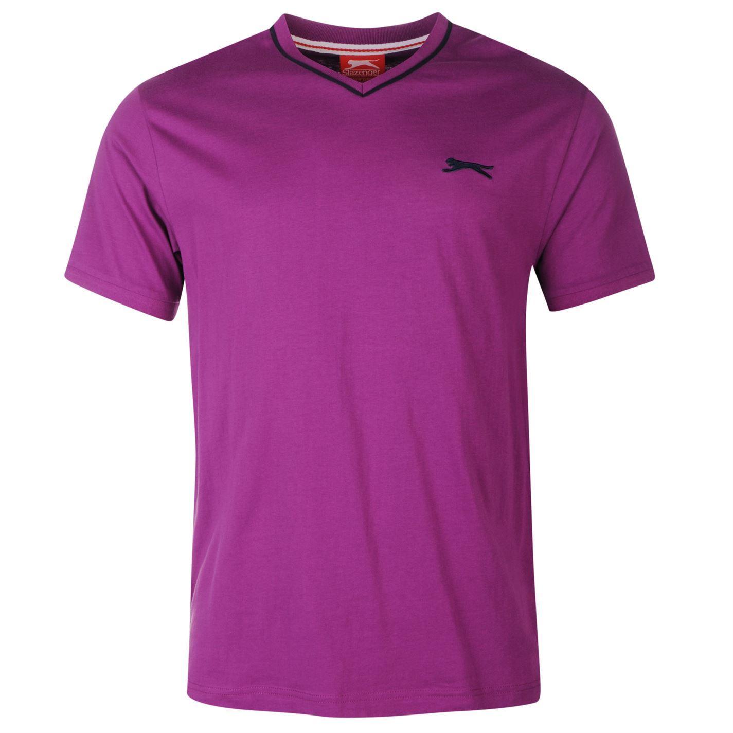 Slazenger mens v neck t shirt short sleeve tee top for Best short sleeve shirts