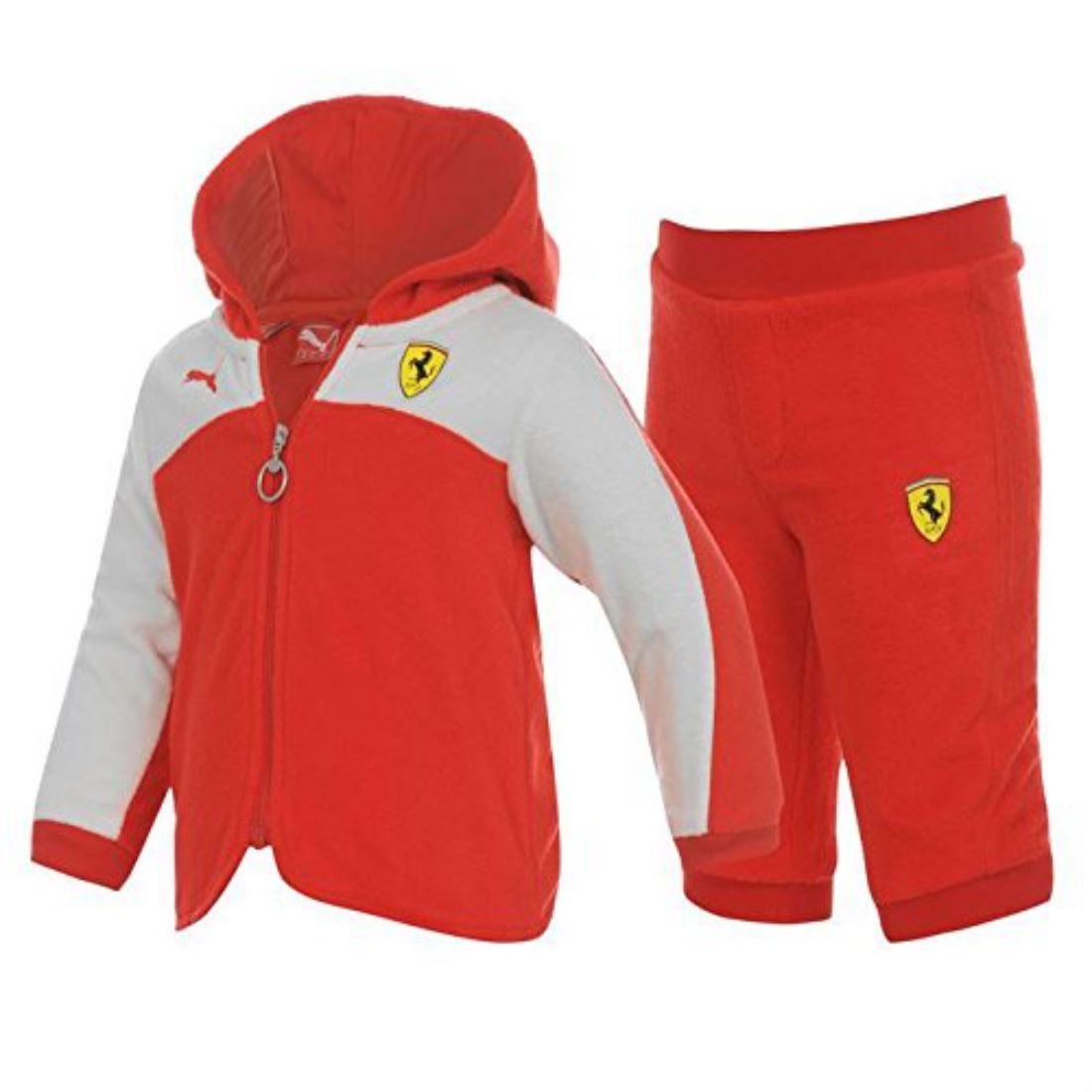 Puma Kids Childrens Infants Ferrari Fleece Suit Baby