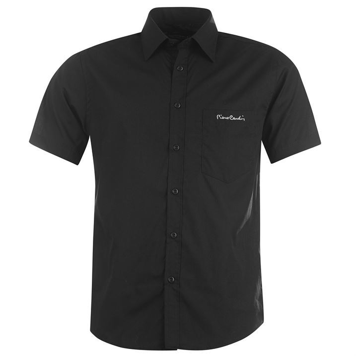 Pierre-Cardin-Mens-Short-Sleeve-Shirt-Smart-Casual-Look-Stylish-Summer-Top