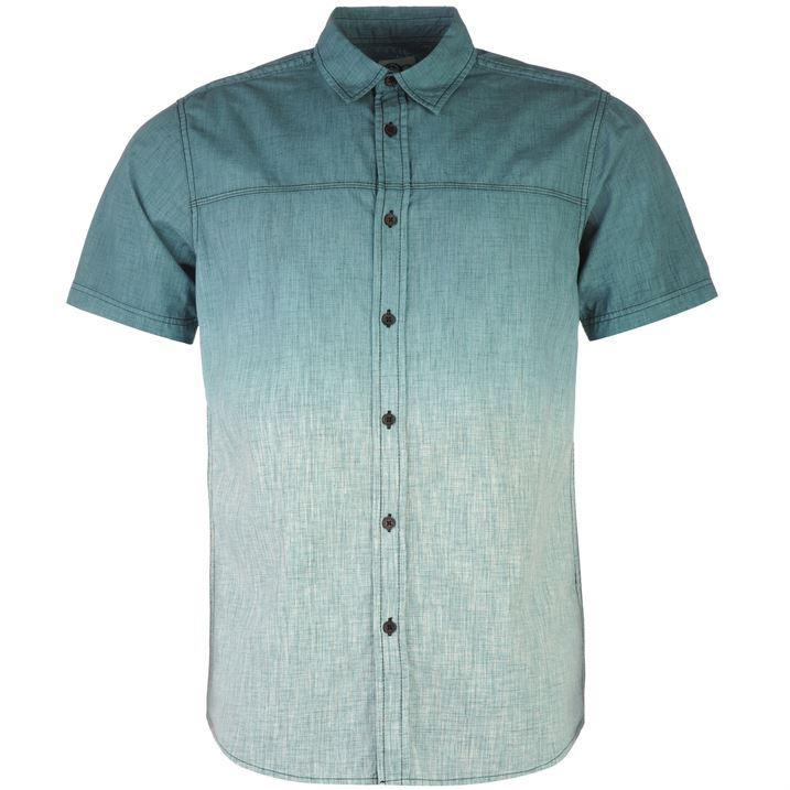 Ocean pacific mens dip dye shirt button front short sleeve for Mens dip dye shirt