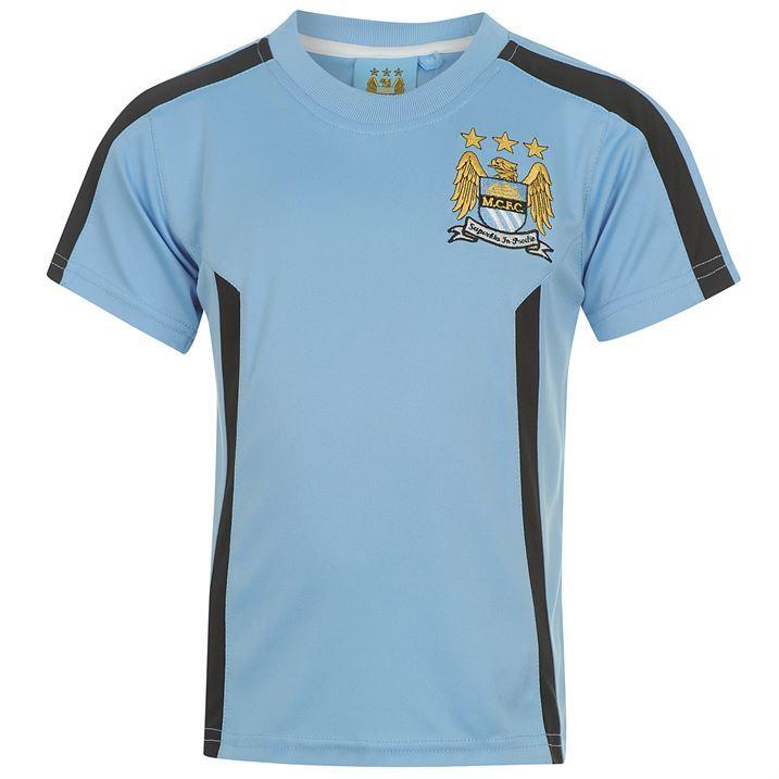 Source Lab Kids Boys Manchester City Crew Neck Logo