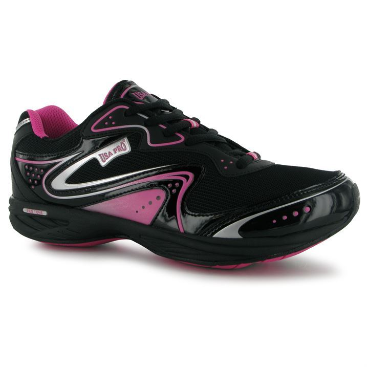 Usa Pro Womens Ladies Tone Gym II Running Trainers Pumps Sports Shoes New