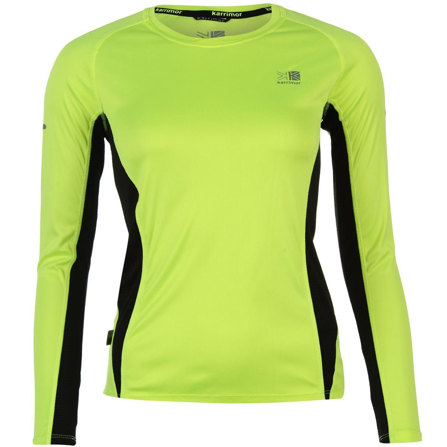 Karrimor womens ladies clothing long sleeve running for Misses long sleeve tee shirts