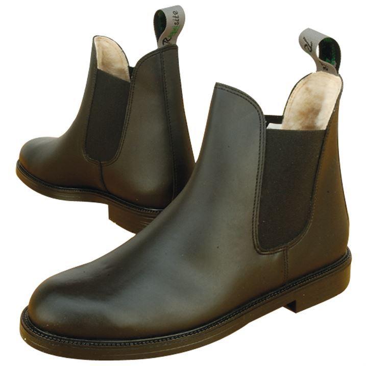 Requisite Mens Classic Fur Lined Jodhpur Boot Shoes ...