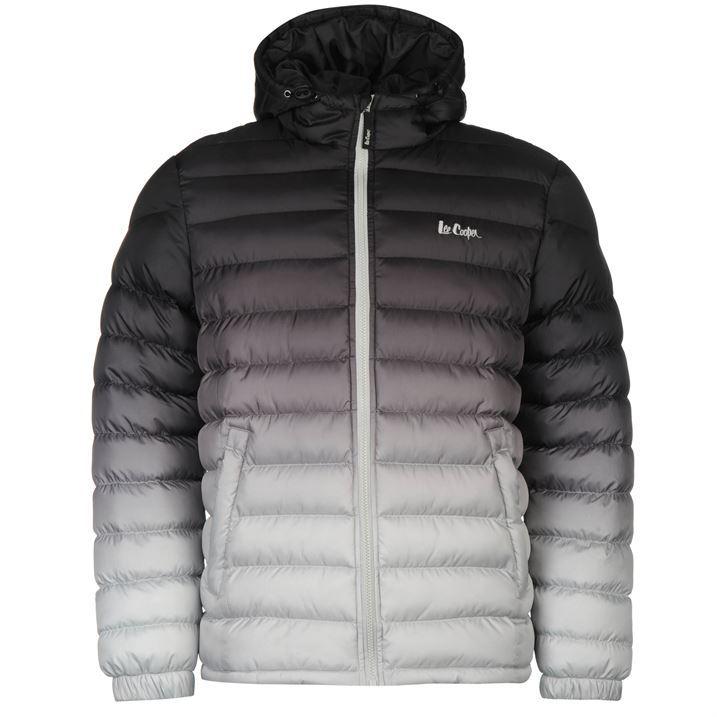 Lee Cooper Mens Gents Gradient Jacket Stamp Overcoat Zipped Outerwear Clothing | EBay