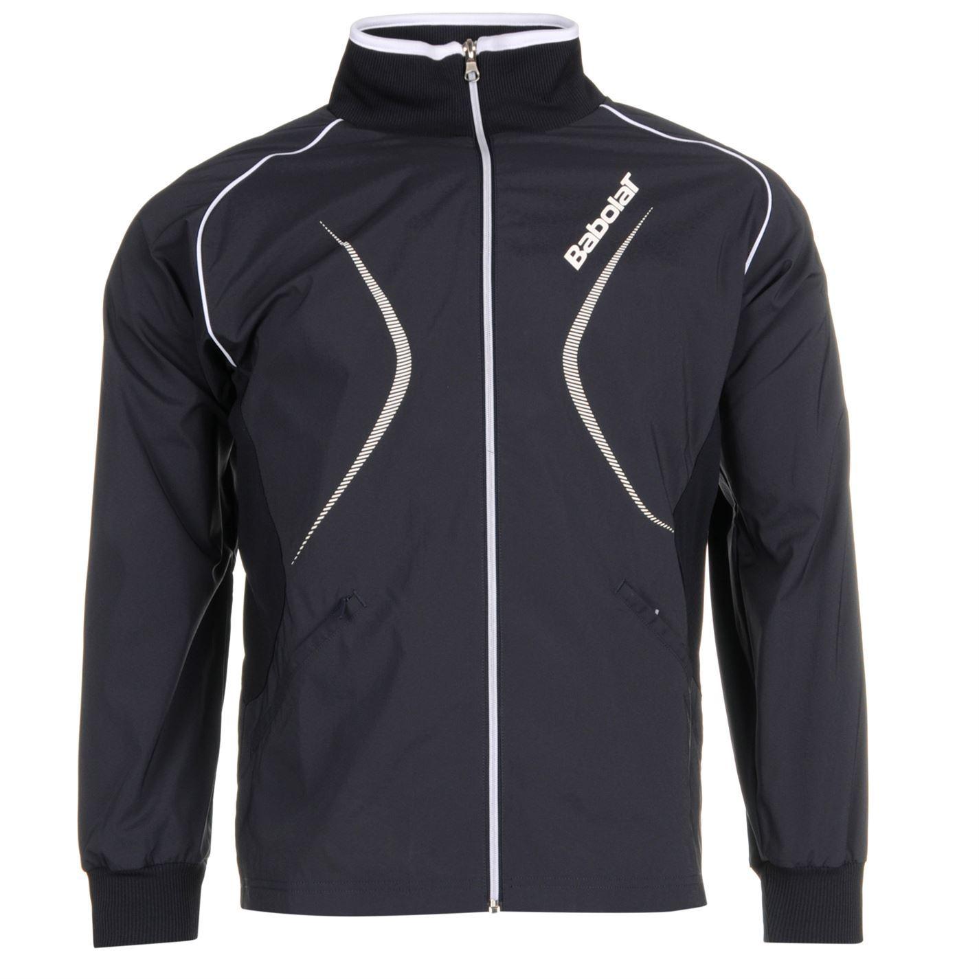 Babolat mens club jacket long sleeve full zip lightweight for Lightweight breathable long sleeve shirts