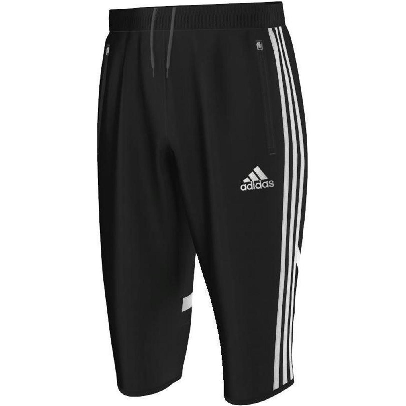adidas mens con14 three quarter pnt 3 4 football shorts pants bottoms ebay. Black Bedroom Furniture Sets. Home Design Ideas