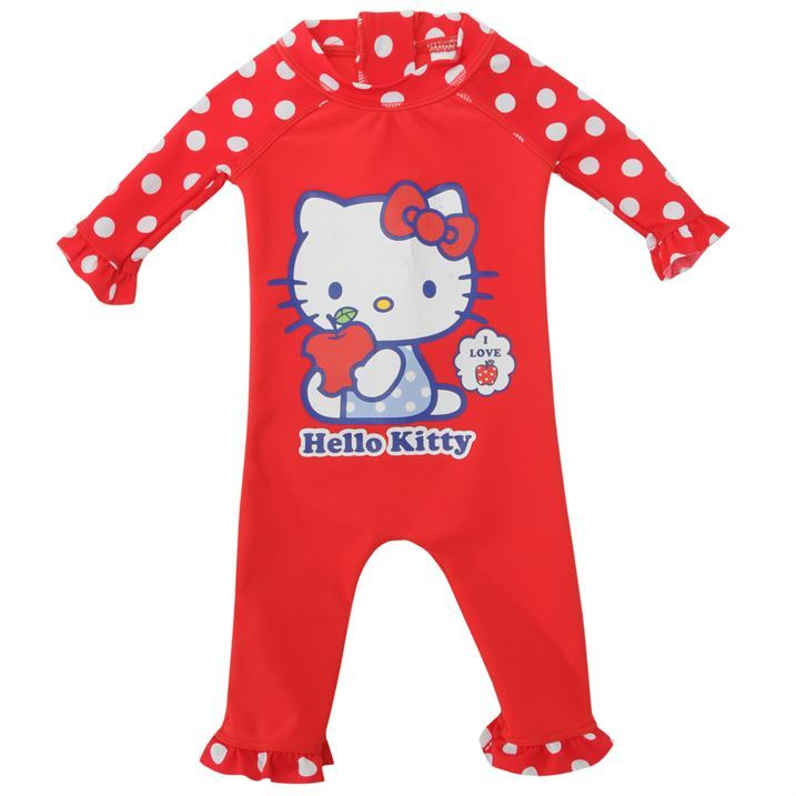 Hello Kitty Kids Kitty Full Body Sun Suit Infant Swimming Costume Clothing