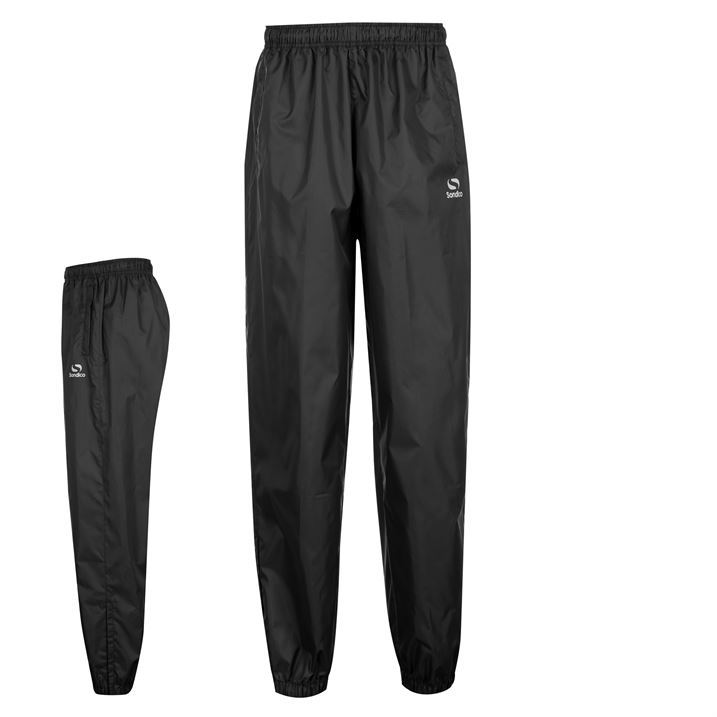 Sondico Mens Rain Pant Sports Gym Pants Trousers Tracksuit Bottoms Cuffed Ankles