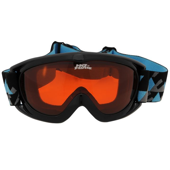 d3da3590cb51 No Fear Kids Hero Goggles Junior Black Anti Fog Ski Goggles Sport  Accessories