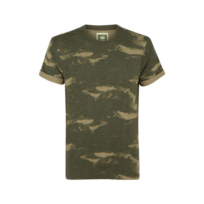 G Star Mens Troupman T Shirt Short Sleeve Contrasting Colour Pattern T-Shirt Tee