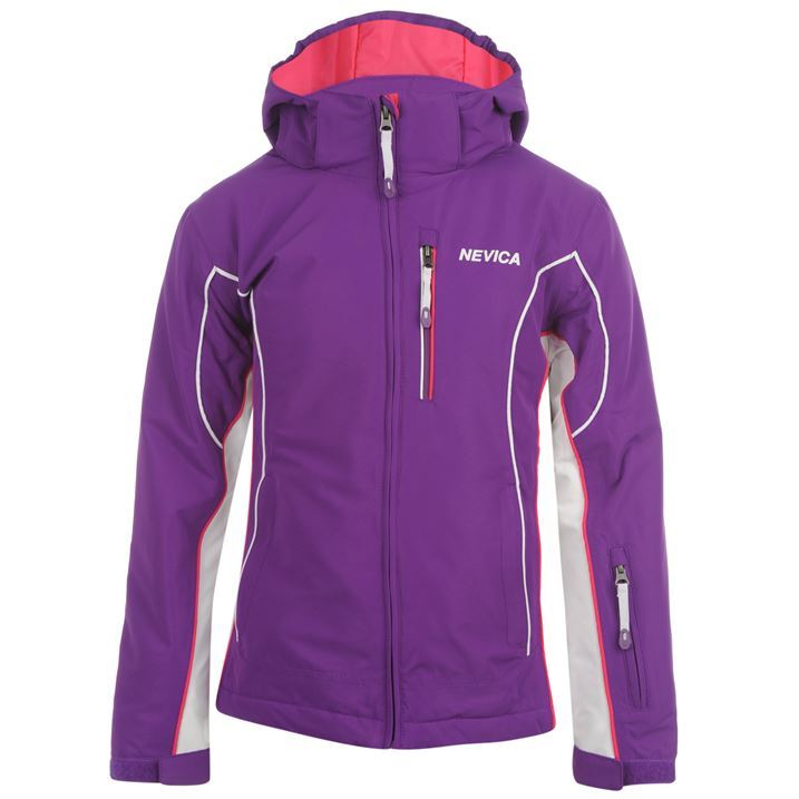 Nevica Kids Meribel Ski Jacket Junior Girls Snow Coat Winter ...