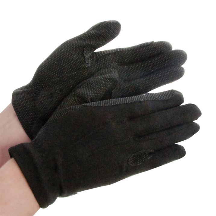 Deluxe Leather Suede Gloves: Dublin Deluxe Track Gloves Reinforced Hands Horse Riding