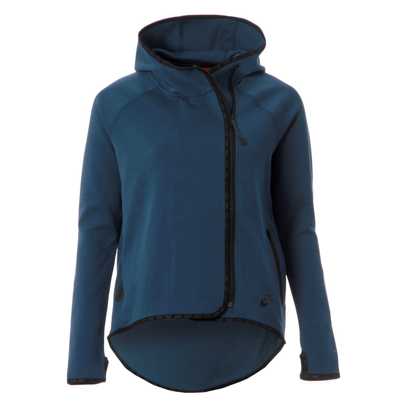 Nike Womens Ladies Tec Fleece Cape Side Zipper Long Sleeve