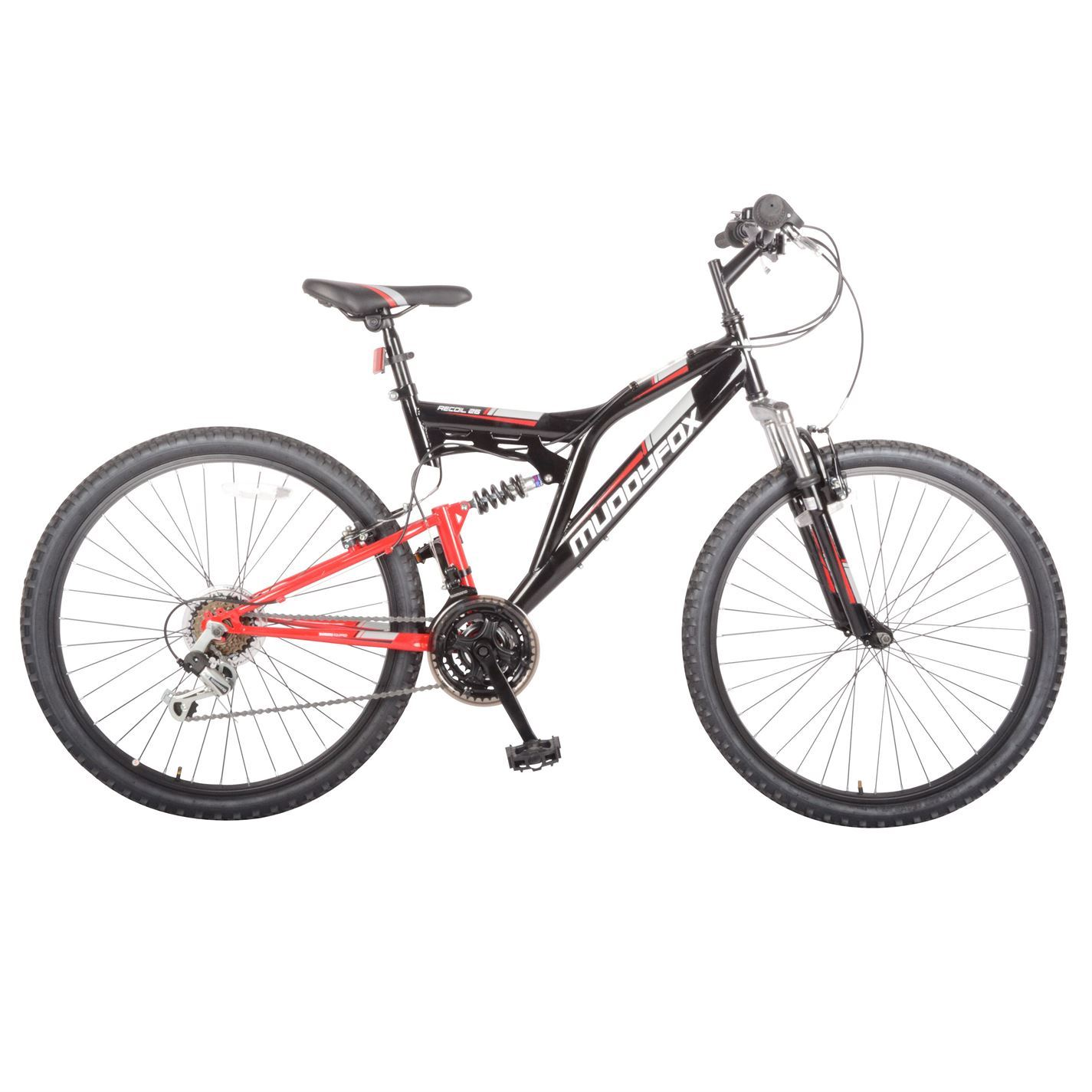 Muddyfox Mens Recoil26 Mountain Bike Dual Suspension Cycling Bicycle