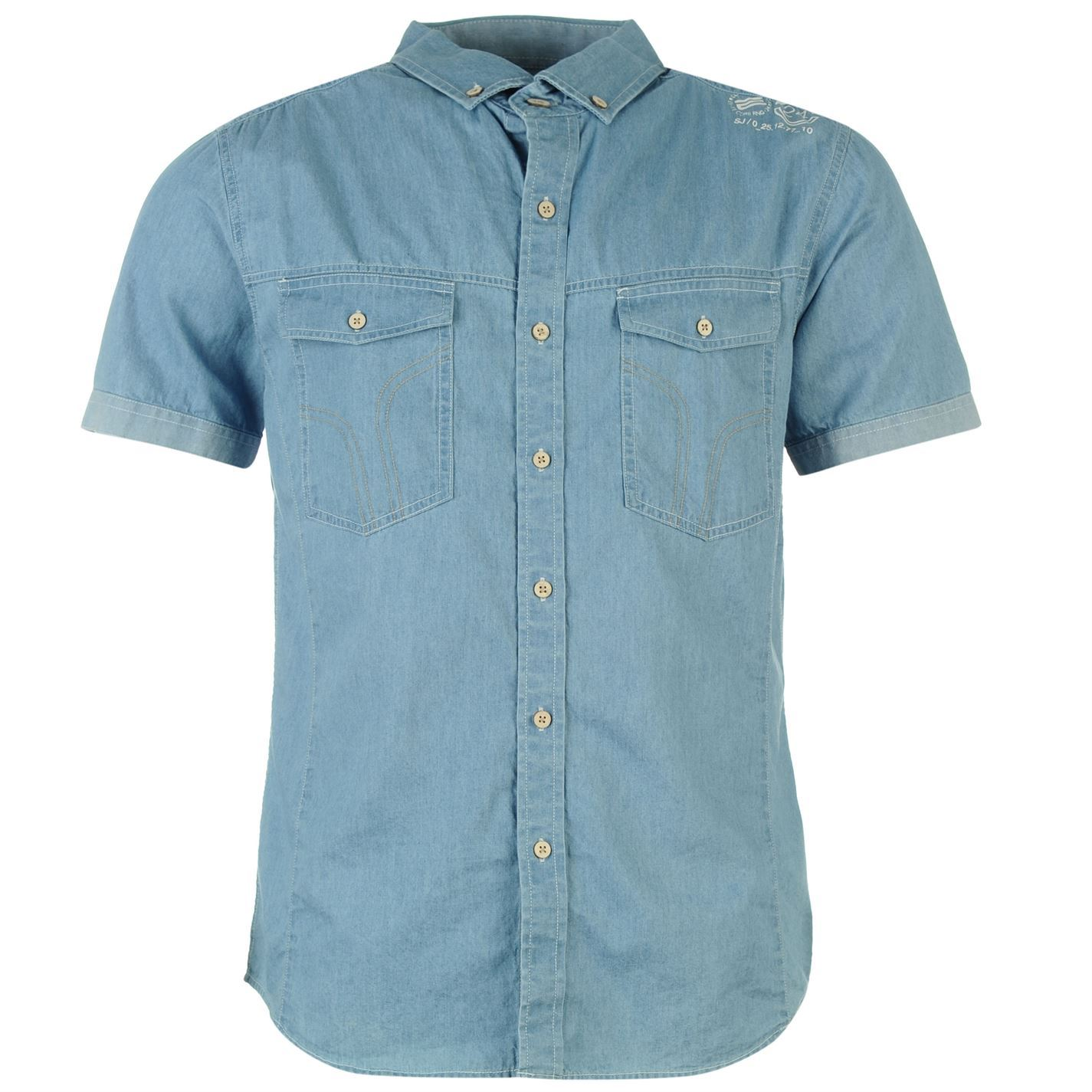 Smith Mens Del Mar Short Sleeve Shirt Top Button Down