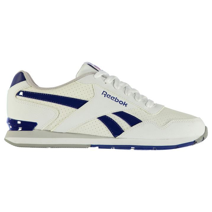 reebok mens gents glide clip leather trainers laces