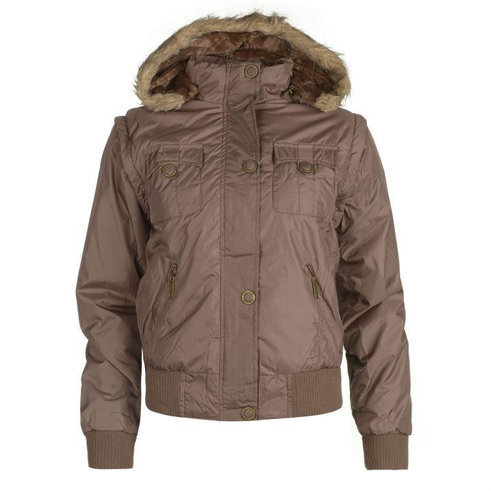 Lee Cooper Womens C Jacket Gilet Combination Ladies Zip Fleece Clothing | EBay