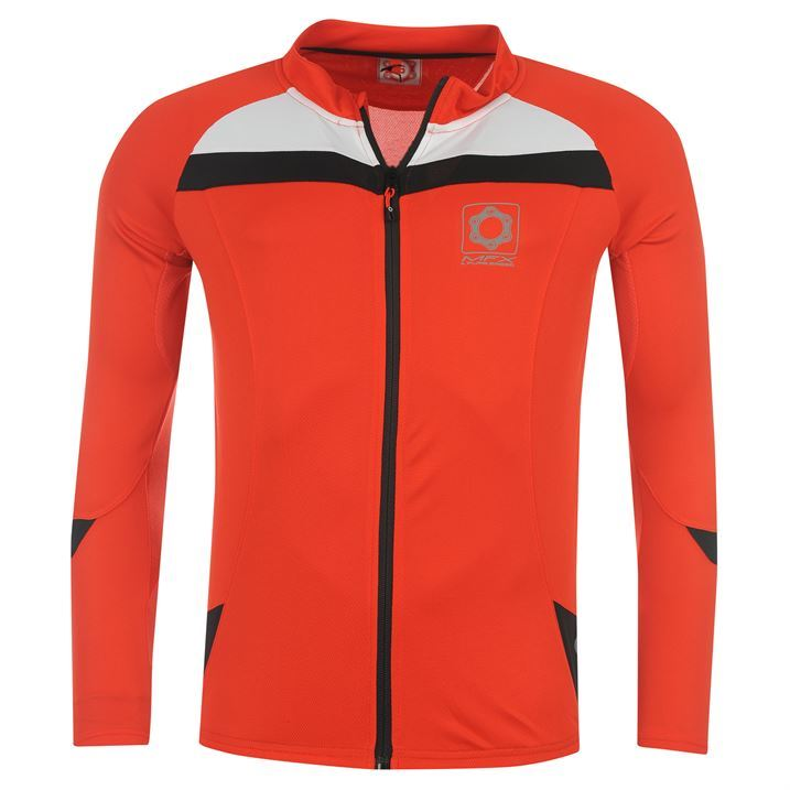 MFX-A-Pure-Breed-Mens-Sport-Clothing-Long-Sleeved-Zip-Up-Cycling-Jersey-Top