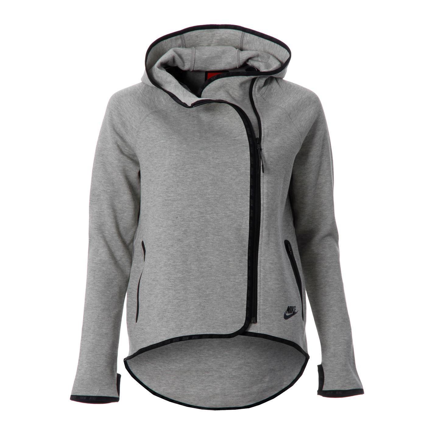 Nike Womens Ladies Tec Fleece Cape Side Zipper Long Sleeve Hooded ...