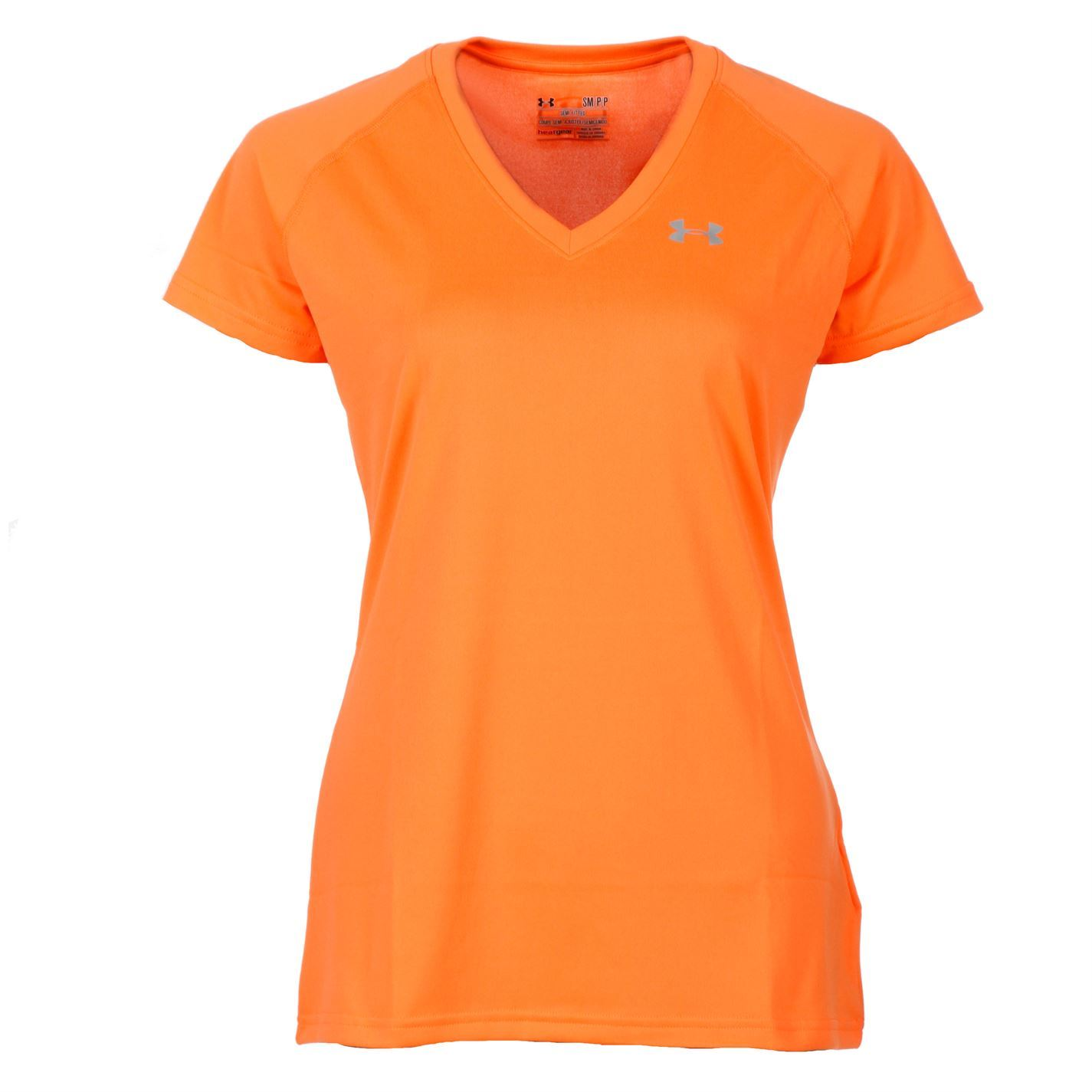 Under Armour Womens Ladies Tech Ss Short Sleeves V Neck T