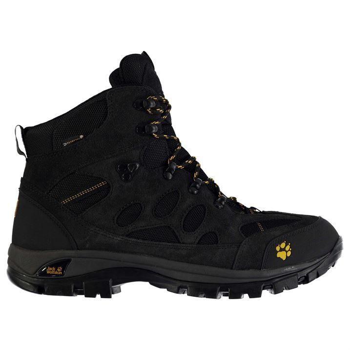 jack wolfskin mens all terrain 7 walking boots water resistant lace up shoes ebay. Black Bedroom Furniture Sets. Home Design Ideas