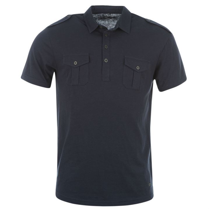 Firetrap mens double pocket polo shirt t shirt tee top ebay for Polo t shirts with pockets