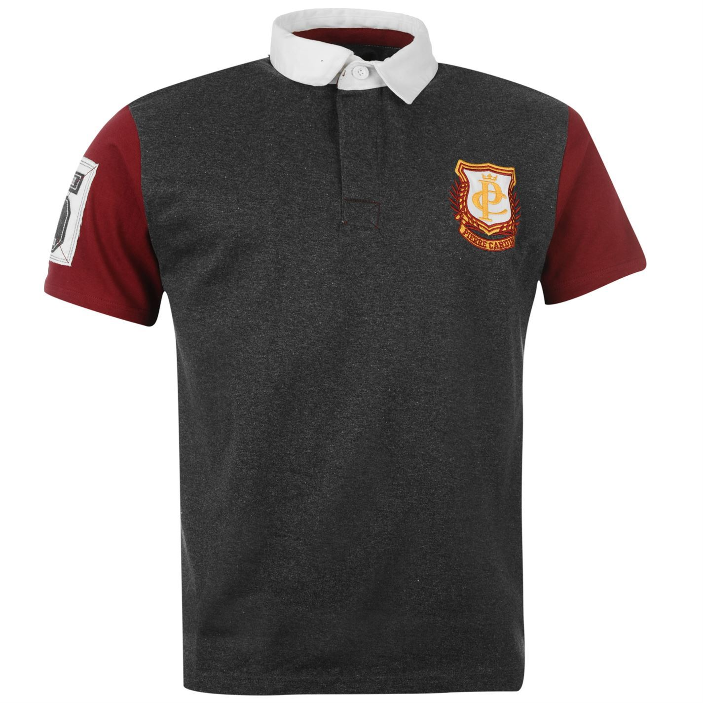 pierre cardin mens rugby polo t shirt jersey top casual. Black Bedroom Furniture Sets. Home Design Ideas