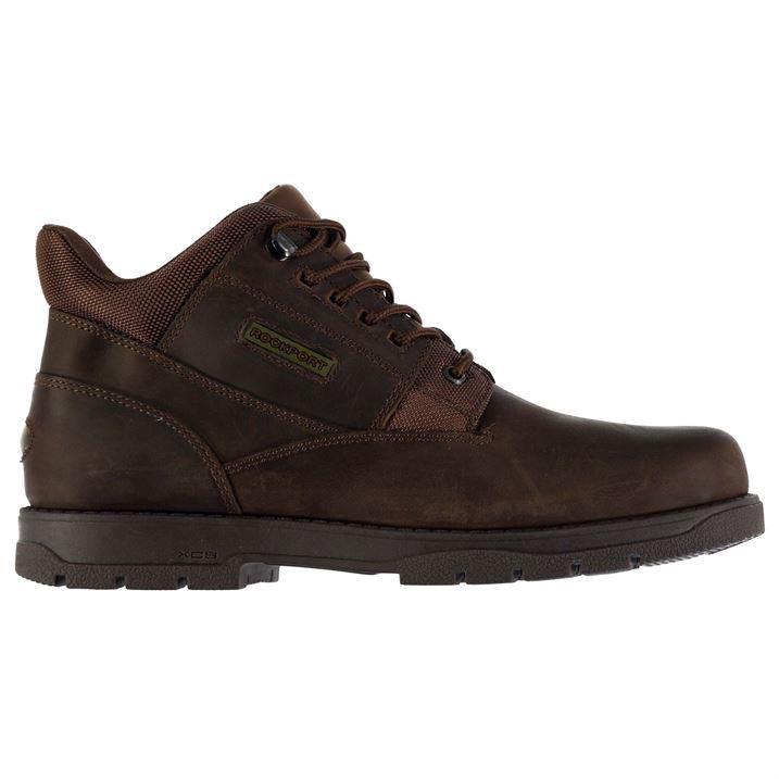 rockport mens plain boots adiprene xcs lace up leather