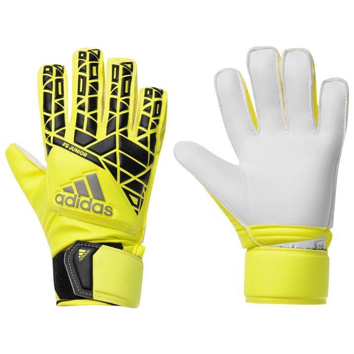 adidas Kids Ace Fingersave Goalkeeper Gloves Junior Sports ...