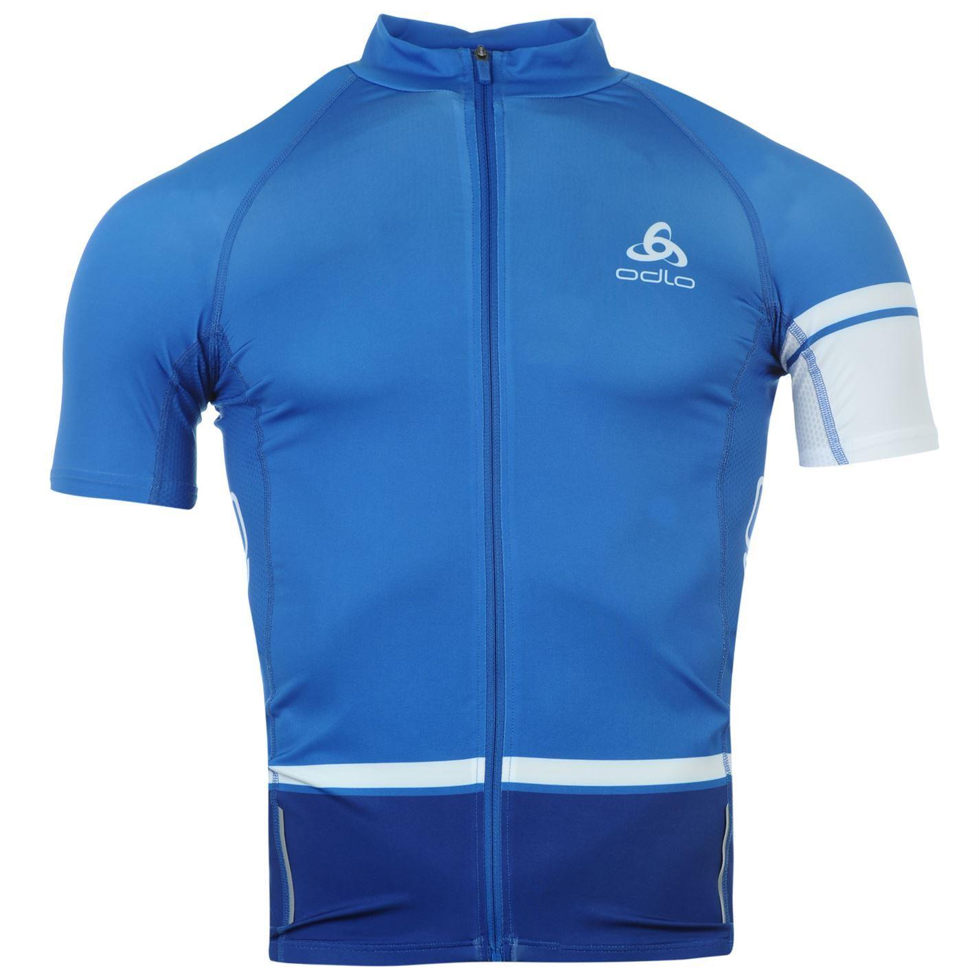 Odlo Mens Tourmalet Jersey Short Sleeve Zip Cycling T