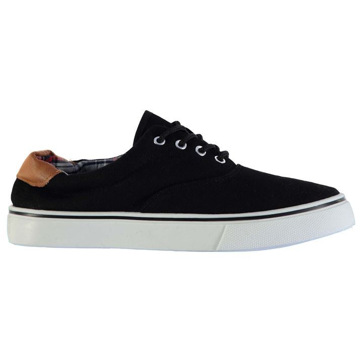 Cargo-Quay-Mens-Trim-Canvas-Trainers-Padded-Lace-Up-Textile-Shoes-Vulcanized