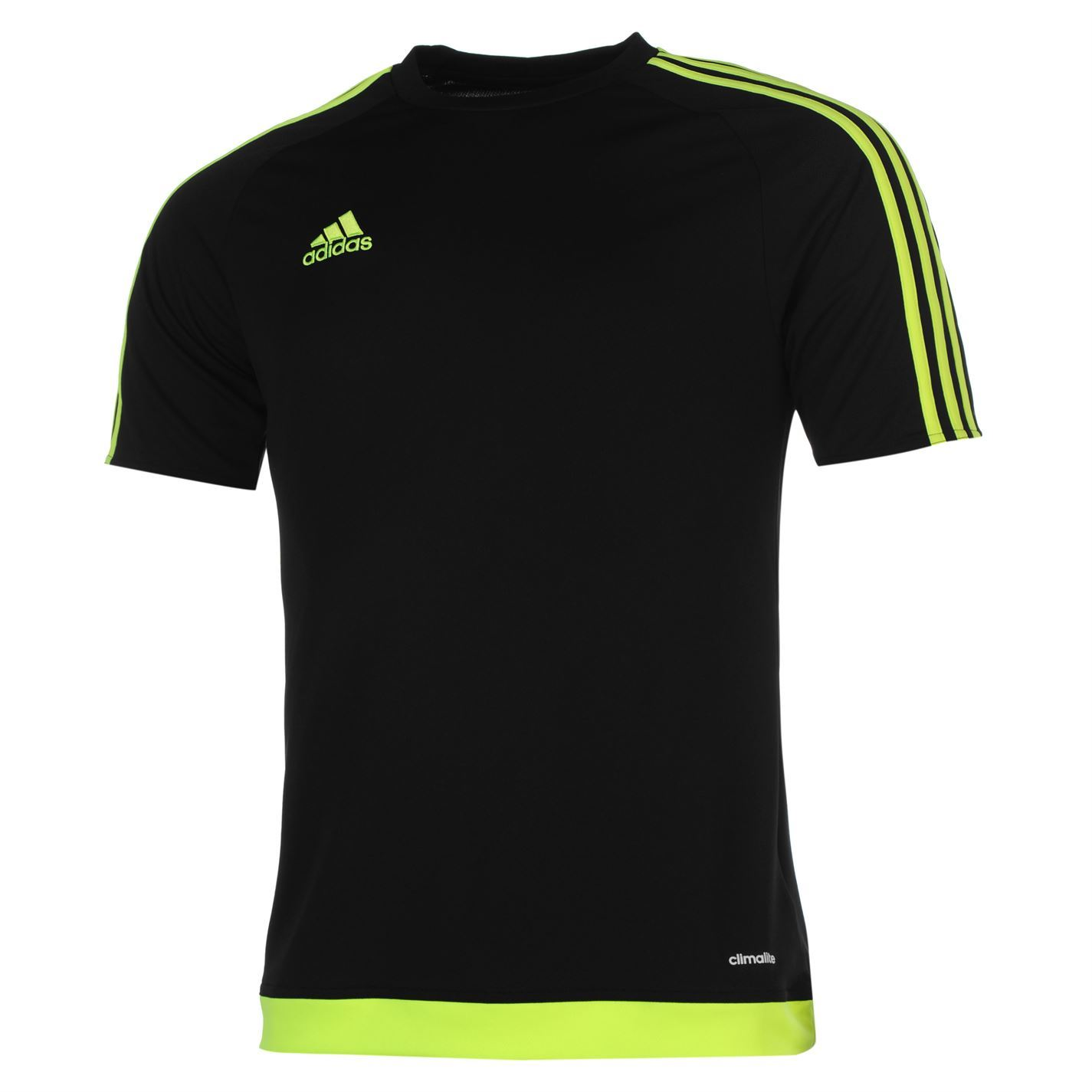 adidas mens 3 stripe estro t shirt short sleeved tee top. Black Bedroom Furniture Sets. Home Design Ideas