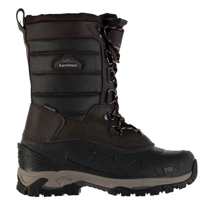 karrimor mens bering snow boots lace up canvas waterproof