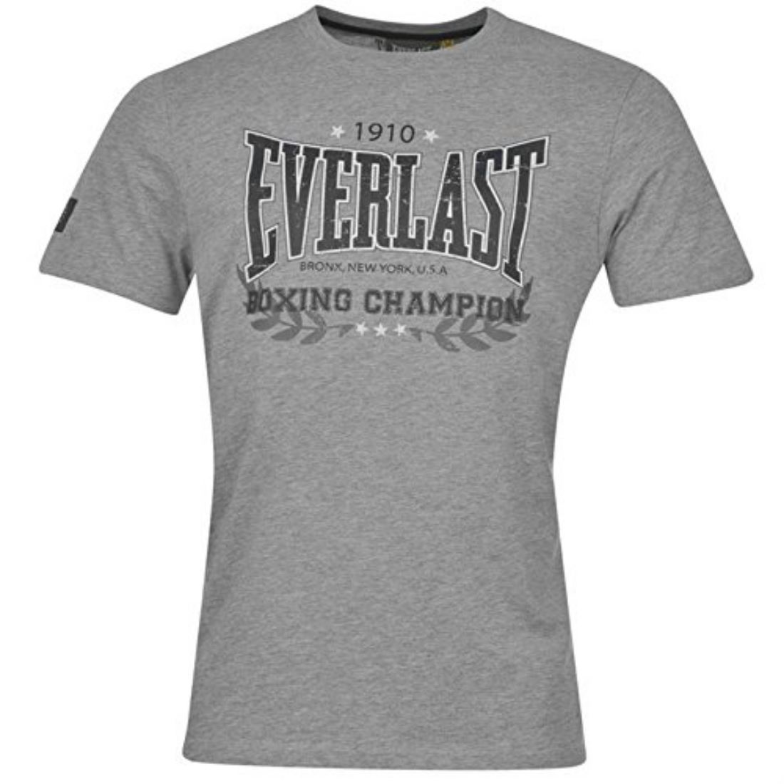 Everlast Mens Heritage T Shirt Crew Neck Short Sleeves Cotton Casual Top New