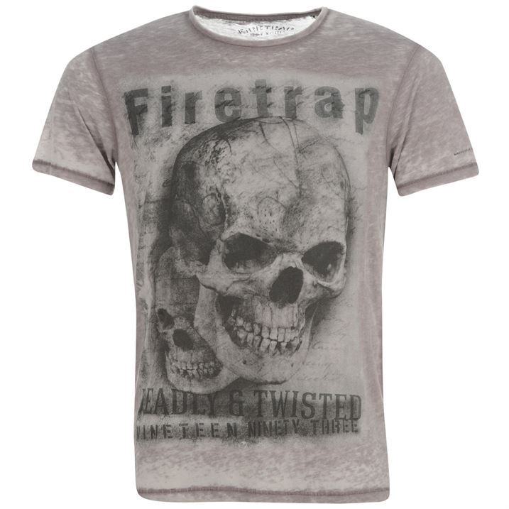 Firetrap Mens Rapture T Shirt Short Sleeves Skull Print Tee Top