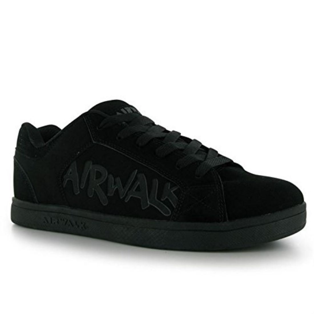 Airwalk Mens Neptune Skate Shoes Lace Up Sport Trainers Faux Suede Footwear